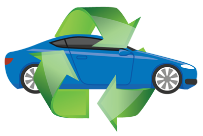graphic of auto recycling