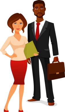 Character illustration of a Business Man and Woman