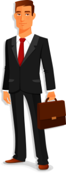 business insurance character