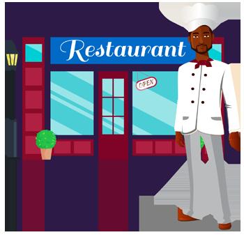 Character Restaurant Owner