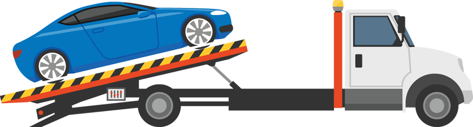 illustration of vehicle being towed